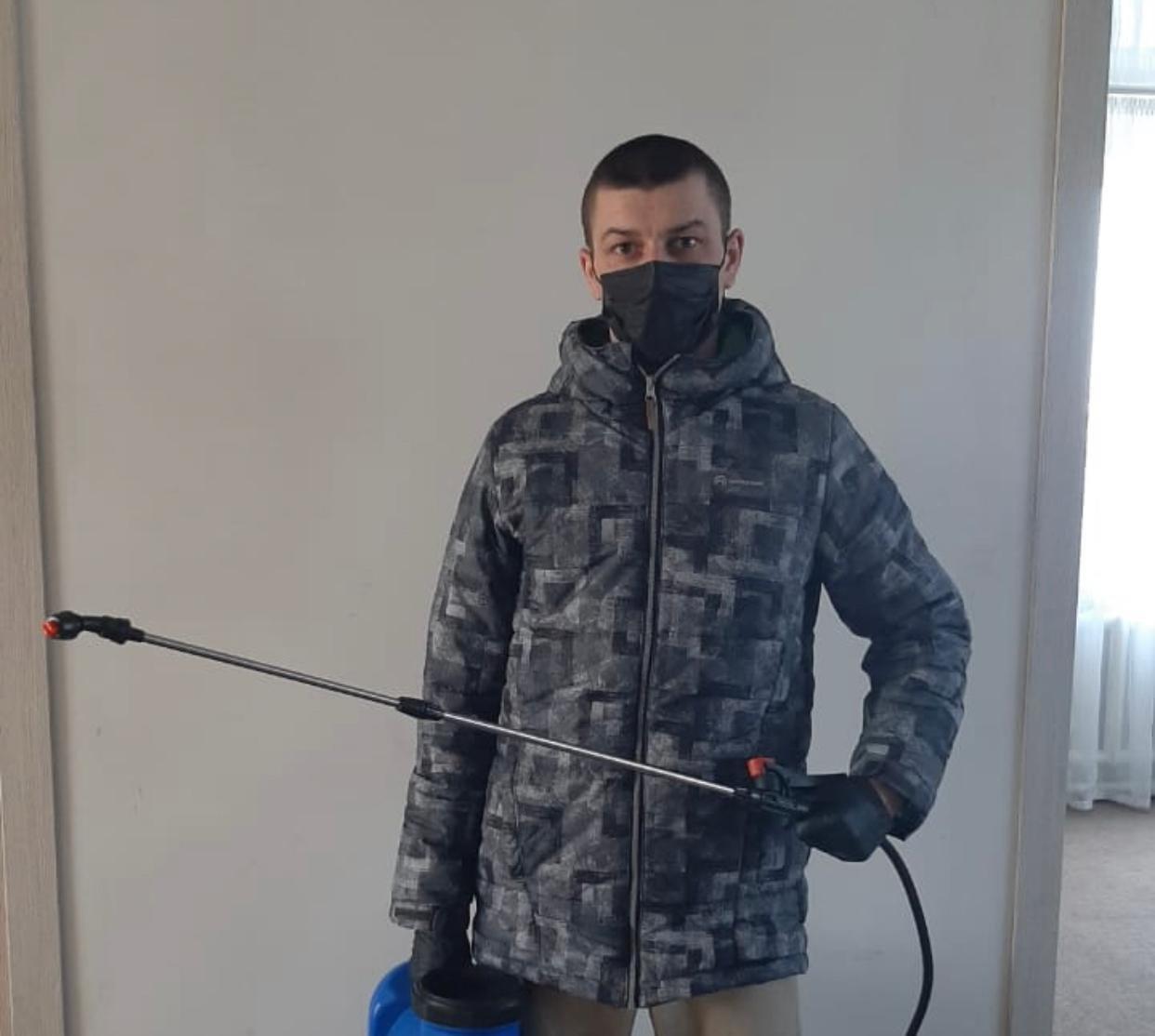 Молодой предприниматель вызвался продезинфицировать СКО, фото-1