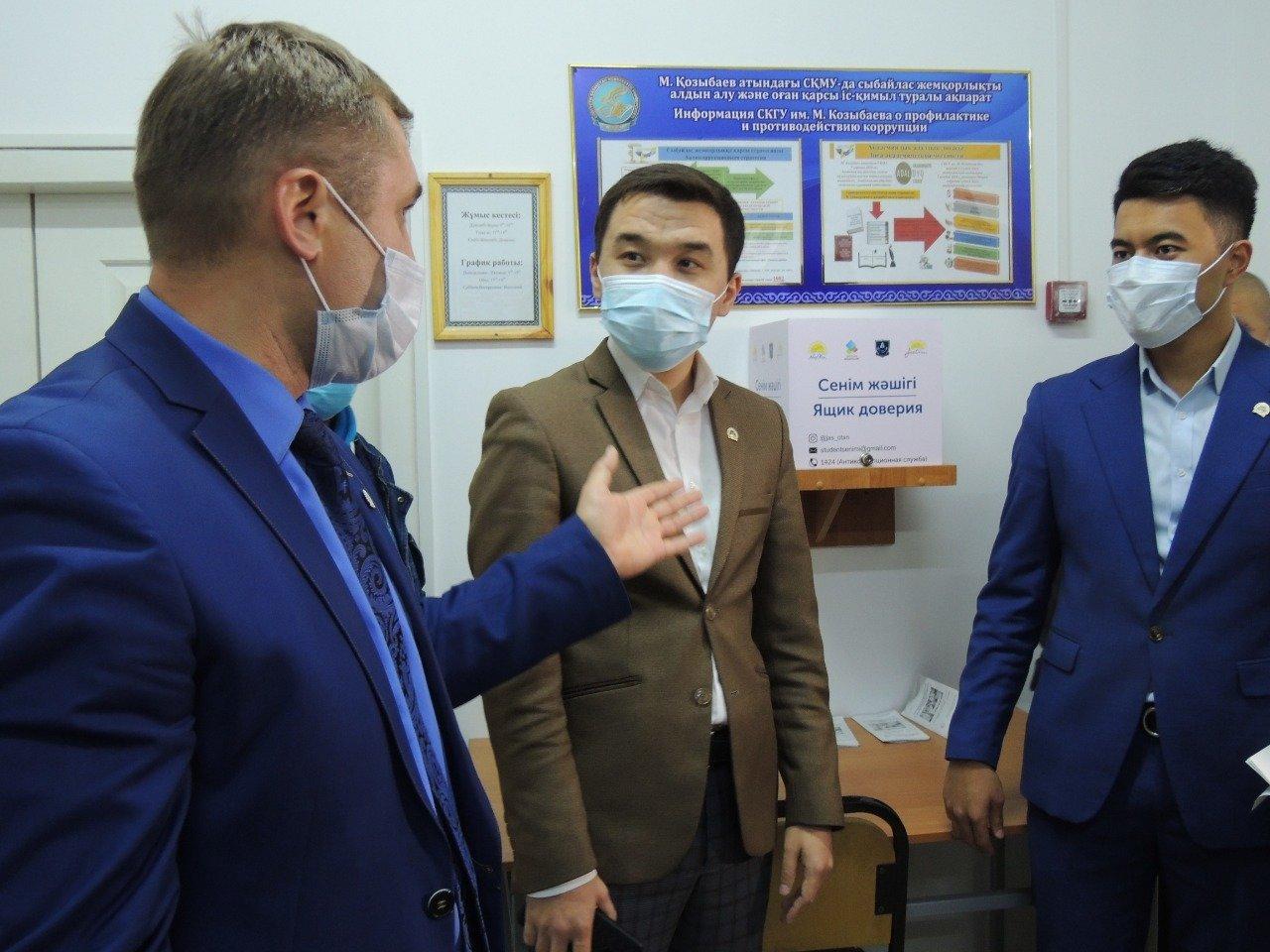 Партийцы ознакомились с условиями проживания студентов Kozybayev University, фото-3