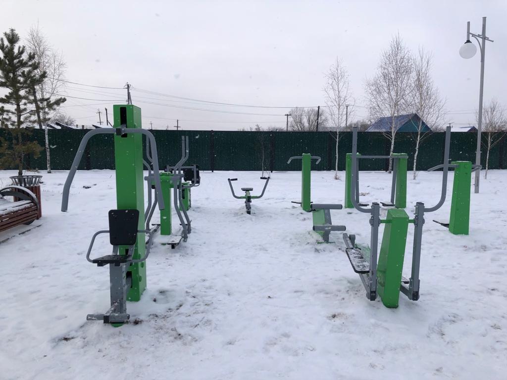 В Мамлютском районе завершают капитальный ремонт парка «Достық», фото-4